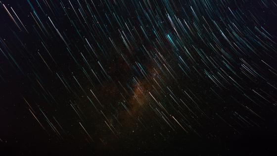 Dazzling star trails wallpaper