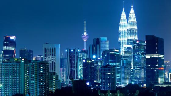 Kuala Lumpur at night wallpaper