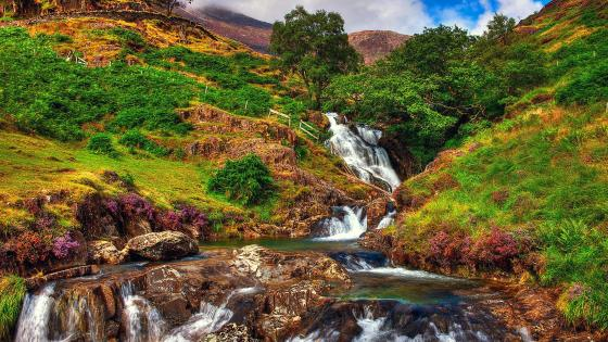 Swallow Falls, Snowdonia National Park in North Wales wallpaper