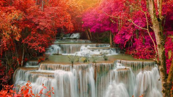Paradise Waterfall (Huay Mae Kamin Waterfall) wallpaper