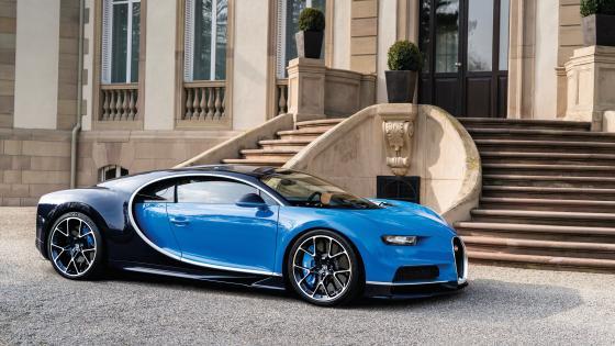 Blue Bugatti Chiron wallpaper