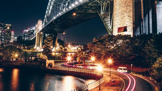Sydney at night wallpaper
