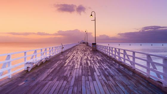 Sunrise from Shorncliffe Pier wallpaper