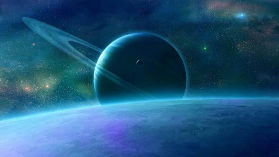 Fantasy space planets wallpaper