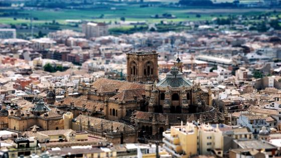Granada Cathedral - Tilt-shift photography wallpaper
