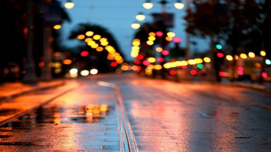Bokeh city lights wallpaper