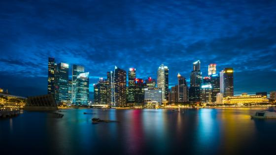 Singapore night skyline wallpaper