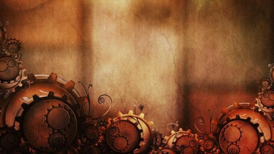 Steampunk abstract art wallpaper