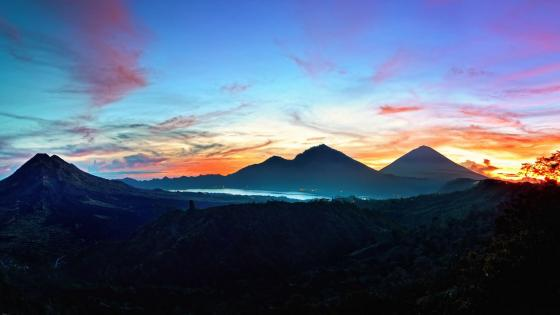 Sunrise in Bali wallpaper
