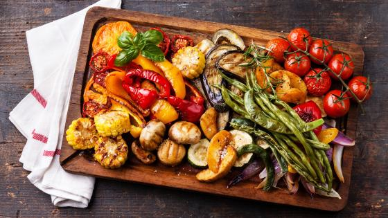 Grilled vegetables wallpaper