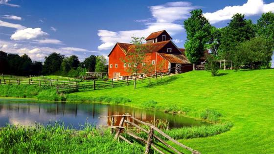Farmhouse in Vermont wallpaper