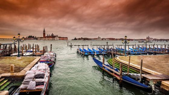 San Giorgio Maggiore Island from San Marco (Venice,Italy) wallpaper