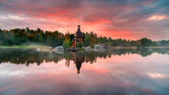 Church of St. Andrew at Vuoksa wallpaper