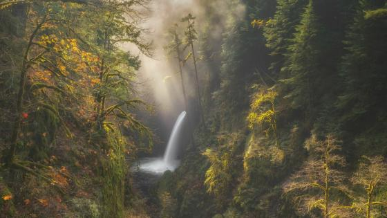 Metlako Falls (Columbia River Gorge) wallpaper