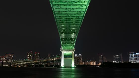Under the Rainbow Bridge (Tokyo) wallpaper