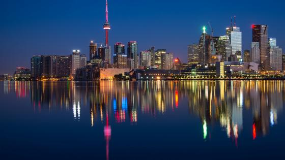 Toronto at night wallpaper