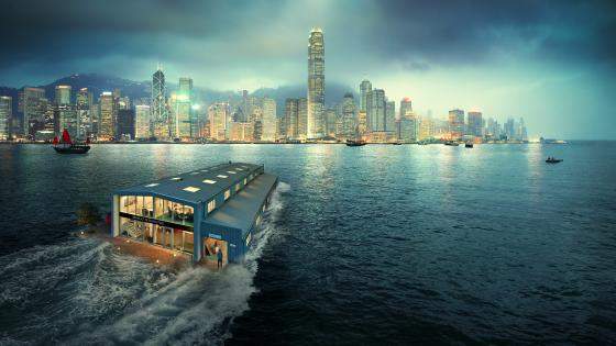 Floating house wallpaper