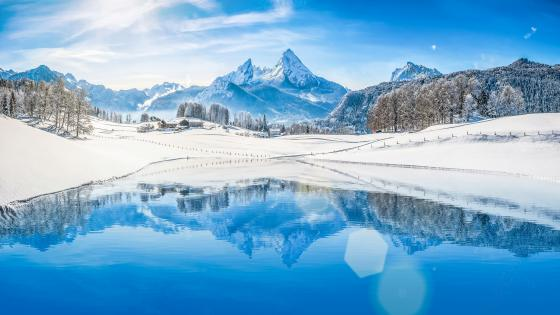 Watzmann massif (Berchtesgaden National Park) wallpaper