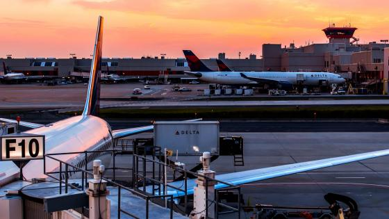 Atlanta Airport Sunset wallpaper