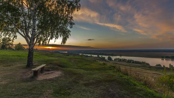 Oka River in Konstantinovo wallpaper
