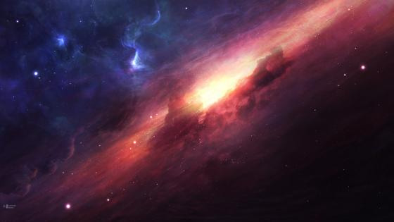 Digital space art wallpaper
