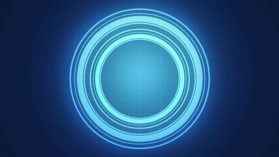 Blue glowing circles wallpaper