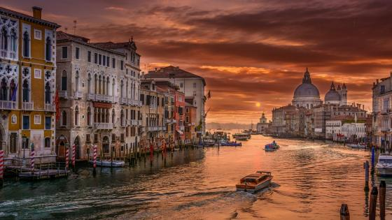 Sunset from the Grand Canal wallpaper