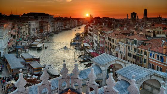 Venice at sunset wallpaper