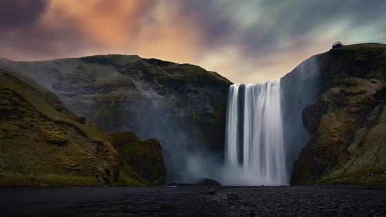 Skógafoss waterfall wallpaper