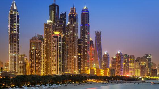 Lights of Dubai wallpaper