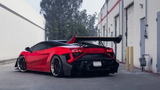 Red Lamborghini Gallardo wallpaper