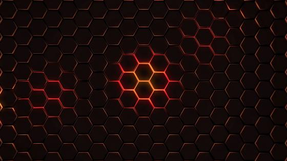 Honeycomb network wallpaper