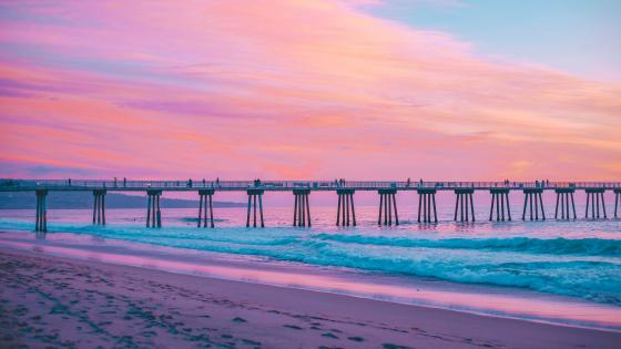 Hermosa Beach Pier wallpaper