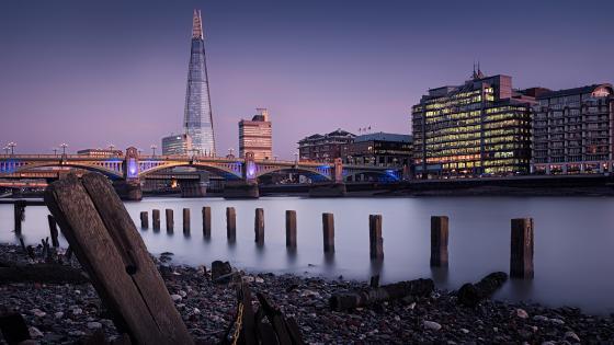 The  Shard and London Bridge (London) wallpaper