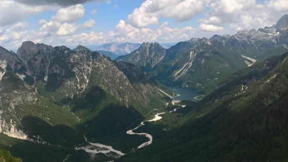 Julian Alps and Lago del Predil wallpaper