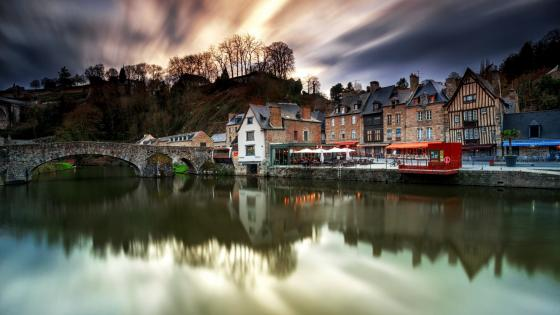 Dinan by the River Rance wallpaper