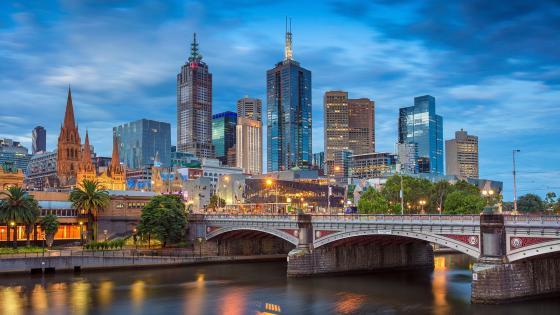 Princes Bridge in Melbourne wallpaper