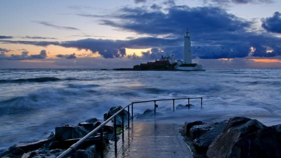St. Mary's Lighthouse wallpaper