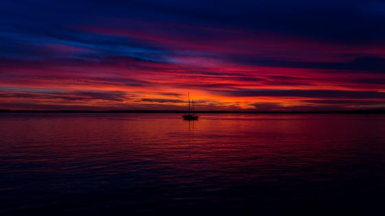 Bellingham Bay sunset wallpaper