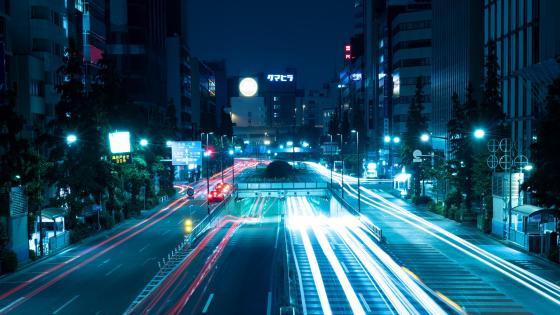 Tokyo night lights wallpaper