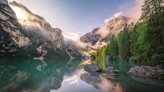 Lake Prags (South Tyrol, Italy) wallpaper