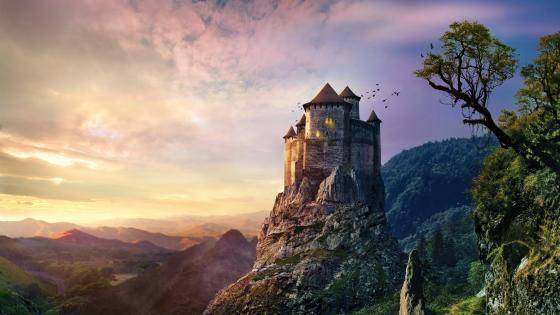 Fantasy castle wallpaper
