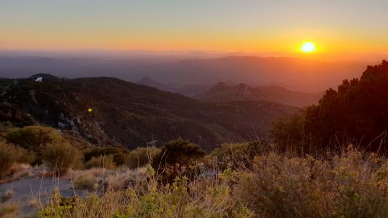 Beautiful Sunset at Kitt Peak Observatory wallpaper