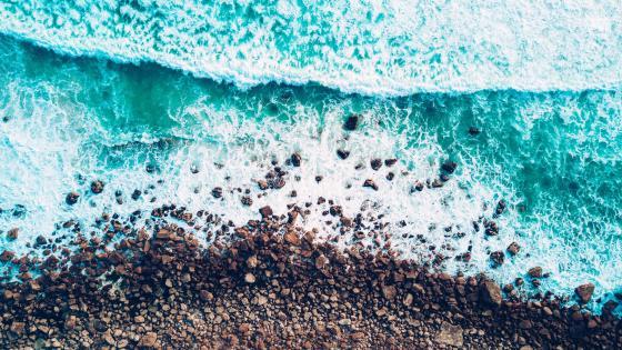 Seashore from above wallpaper