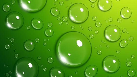 Green water bubbles wallpaper