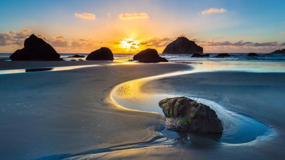 Bandon State Park seastacks wallpaper