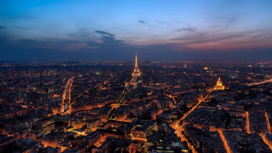 Paris evening wallpaper