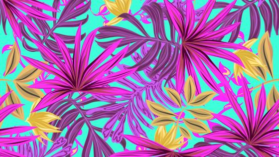 Tropical leaves pattern wallpaper