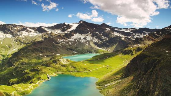 Agnel Lake and Serrù Lake (Italy) wallpaper