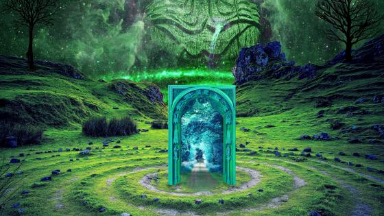 Fairy glen fantasy art wallpaper